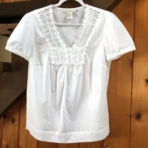 Requirements Large White short sleeve top w/lace